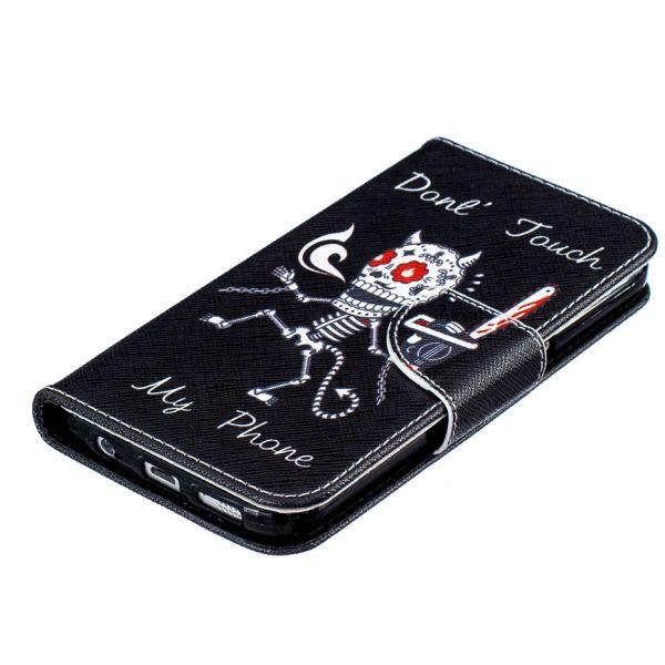 Púzdro pre Samsung Galaxy S7 Edge Don't Touch My Phone Skeleton